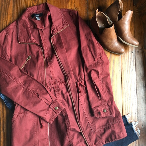 Forever 21 Jackets & Blazers - Brand new rust utility coat